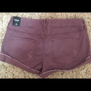 Express Shortie Low Rise Shorts